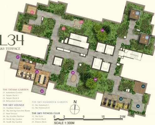 One Bernam condo facilities sky terrace