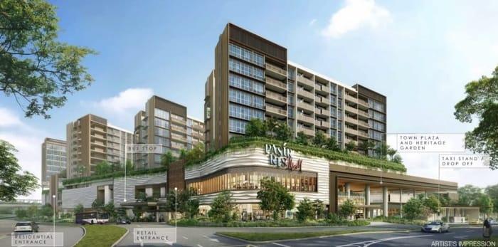 Pasir Ris 8 condo and shopping mall